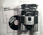 Digital Binoculars Camera and Video Silver and Black