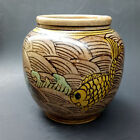 Chinese Hand-painted Pastel porcelain Colored fish pattern pots   Z368