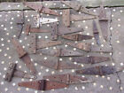 20 VINTAGE BARN STRAP HINGE LOT OLD FARM GATE DOOR DECOR STEEL PRIMITIVE RUSTY