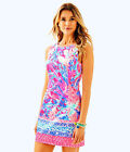 Lilly Pulitzer NWT Mila Shift Pascha Pink Aquadesiac Cotton Engineered Dress 10