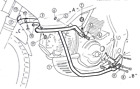 Cagiva Gran Canyon 900Bj.1998-1999 Engine protection bar Blk BY HEPCO AND BECKER