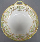 Nippon Morimura Hand Painted Gold Rose Moriage Gilt & Green Handled Bowl C. 1911