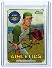 2018 Topps Heritage High Number ROLLIE FINGERS Auto Real One Blue Ink ATHLETICS