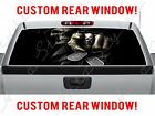 Skull Rear Grim Reaper Chevy Dog Tags Fist Pickup Truck Perforated Window Decal