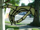 Stained Glass Creep Spooky Hand Sun catcher Real Glass