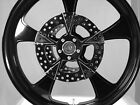 23 x 375 HARLEY ROAD GLIDE GLOSS BLACK ROCK STAR ABS WHEEL WITH ROTORS