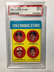 1963 Pete Rose Rookie Card #537 PSA 3 VG