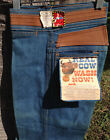 Male Real Cow Leather Trim 70s BIG Bell Bottom Cotton Denim Jeans