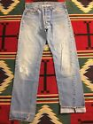 Vtg Levis 501 Redline Selvedge Denim Jeans Measure 33x34 USA 9170