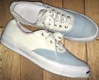Mens Converse Jack Purcell White Soft Blue Lace Up Canvas Sneakers 12