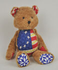 JIM SHORE Boyds TEDDY Bear COLLECTION American AMERICANA Flag JOINTED Poseable