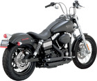 Vance  Hines Black Shortshots Staggered Exhaust for 2012 17 Harley Dyna 47227