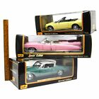 Lot of 3 MAISTO DIECAST CARS 118 Scale PINK CADILLAC Studebaker