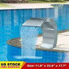Waterfall Pool Fountain Garden Ponds Swimming Pools Stainless Steel 177 x118