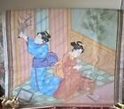 very large old Japanese hand painted character painting