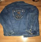 VINTAGE 90s JOE CAMEL GENUINE TASTE CIGARETTES JEAN DENIM JACKET XL