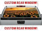 Sunflower Sunset Field Sky Perforated Vinyl Window Decal