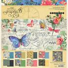 Graphic 45 FLUTTER 12x12 Scrapbook Paper Collection Kit