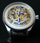 ULYSSE NARDIN Skeleton Antique Deco Large Watch Marine Chronometre Nice Engraved