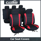 Universal Car Seat Covers Front Rear Head Rests Full Set Redbluegray 12 Type