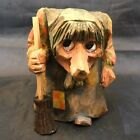 Vintage Hand Carved Old Woman Witch Wood Troll  William Schmidt Norway
