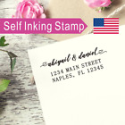 Personalized Self inking Return Address Stamp heart two first names Couple AS031