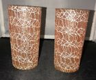 2 SPAGHETTI STRING Glasses MID CENTURY Tumbler Drinking GLASS Orange