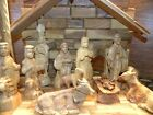 Deluxe Olive Wood Nativity Set Hand Carved in Bethlehem the Holy Land Large