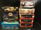 Lot Of 9 NASCAR Diecast Racing Cars 124 scale Cars Truck Vintage A MUST SEE