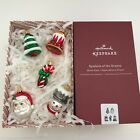 Hallmark 2017 Premium Symbol's of the Season Blown Glass Miniature Ornaments New