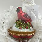 Hallmark 2017 Cardinal Dome Heritage Blown Glass Ornament Red Bird Beauty Poland