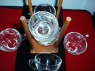 Vintage Clear Glass Tea Coffee Cups Lot of 7 Pcs Plus Cup Holder