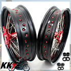 OEM SIZE XR650L 93-18 HONDA 3.5*17/4.25*17 SUPERMOTO MOTARD CNC WHEEL RIMS SET