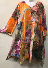 Nwt FUNKY STUFF floral gypsy hanky cotton TOP TUNIC DRESS 1X 18W Free shipping