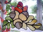 Stained Acorn Cluster Sun catcher Real Glass