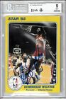 Dominique Wilkins signed auto 1985 Star Court Kings 5x7 Rookie Card BAS BGS 9