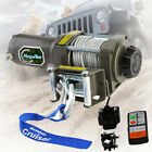 3500lbs 12V Winch Electric ATV Recovery Trailer Truck Wireless Remote Control