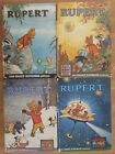 FOUR ORIGINAL VINTAGE RUPERT BEAR ANNUAL BOOKS 1966 67/68/69 BY DAILY EXPRESS