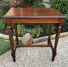 English Antique- Turned Leg Mahogany Writing or Occasional Table