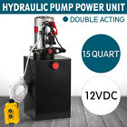Double Acting Hydraulic Pump DC 12V Dump Trailer 15 Quart 3200 PSI Max