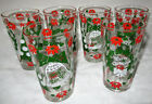 6 Vintage MCM Merry Christmas/ Happy New Year Holiday Tumblers Hazelware