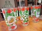 Vintage Hazel Atlas Tumblers, set of 5 Merry Christmas/Happy New Year Glasses