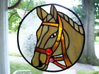 Stained Glass Horse Head sun catcher Real Glass