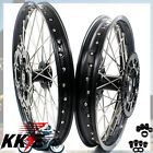21/19 WHEEL FIT SUZUKI RIMS RM125 RM250 2001-2008 MX WHEEL BLACK HUB + SPROCKET