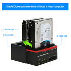 25 35 USB30 to 2 SATA 1 IDE HDD Hard Drive Docking Station Card Reader D1F3