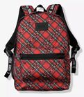 Victorias Secret PINK CAMPUS Backpack RED PLAID HOLIDAY PRINT BRAND NEW