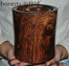 A rare Chinese dynasty Palace Huanghuali wood Hand Carved Brush Pot Pencil Vase