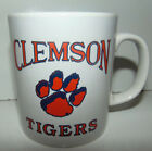 VINTAGE CLEMSON TIGERS Coloroll Coffee Mug Cup Milk Glass College 1980's * RARE
