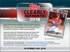 2018 Topps Clearly Authentic Baseball Hobby 1 Card BOX (1 Pack)(Sealed)