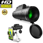 40X60 Zoom Optical HD Night Vision Monocular Telescope +Tripod+Clip for Outdoor
